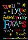 "WELL DONE CARD ""PASSED YOUR EXAMS DESIGN"" SIZE 6.75"" x 4.75"" By Lings GHC157"
